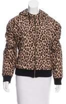 Sonia Rykiel Leopard Print Hooded Jacket
