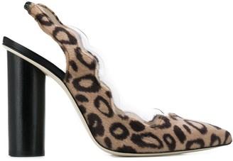Francesca Bellavita Leopard Slingback Pumps