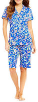 Lauren Ralph Lauren Paisley Jersey Bermuda Pajamas