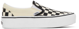 Vans Black and White OG Classic Slip-On Platform Sneakers