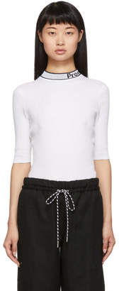 Proenza Schouler White and Black Knit Combo T-Shirt