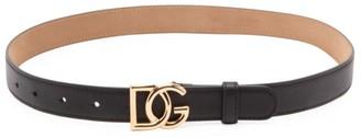 Dolce & Gabbana Logo Smooth Leather Belt