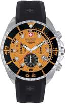 Swiss Military Hanowa Men's Sealander 06-4096-04-079 Orange Silicone Swiss Chronograph Watch with Dial