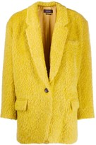Isabel Marant single breasted textured coat