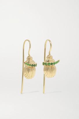 Lito Franca 14-karat Gold Tsavorite Earrings - one size