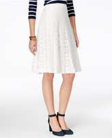 Tommy Hilfiger Lace Eyelet Skirt, Only at Macy's