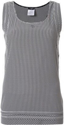 Chanel Pre Owned 2008 Houndstooth Print Vest
