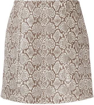 ALEXACHUNG Python Print Skirt