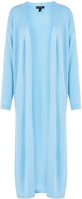 New Look Ribbed Knit Maxi Cardigan