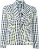 DSQUARED2 gingham check blazer - women - Cotton - 38