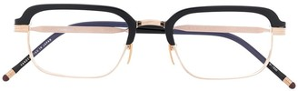 Jacques Marie Mage Two-Tone Rectangle Frame Glasses