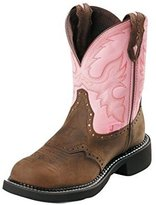 Justin Boots Justin Work Boots Womens Gypsy Steel Toe Bay Pink WKL9981