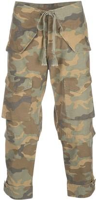 Greg Lauren camouflage print cargo trousers