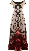 Afroditi Hera mirrored print dress
