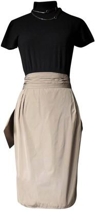 Lanvin Beige Silk Skirt for Women Vintage