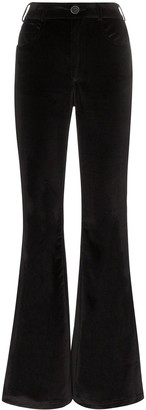 Rockins High-Waisted Flared Trousers