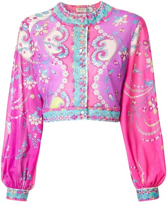 Emilio Pucci Pre Owned Printed Blouse