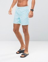 Asos Swim Shorts In Turquoise Mid Length