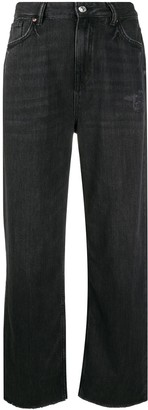 AllSaints High Rise Straight Leg Jeans