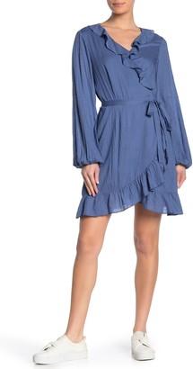 Paige Shawna Ruffled Wrap Dress