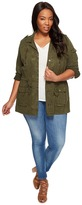 Lucky Brand Plus Size Soft Military Jacket Women's Coat
