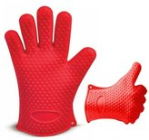 Red Heat Resistant Silicone Gloves by Sarah Allen's