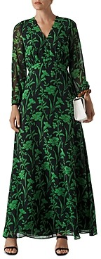 Whistles Valerie Woodland Floral Maxi Dress