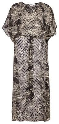 Dorothy Perkins Womens *Dp Beach Black Leaf Print Tie Maxi Beach Cover Up, Black