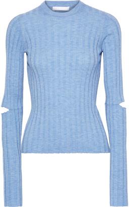 Helmut Lang Cutout Ribbed Wool Sweater