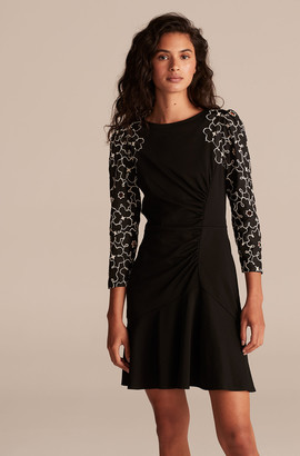 Rebecca Taylor Tai Embroidery Jersey Dress