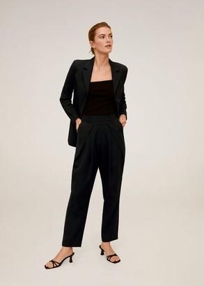 MANGO Pleated suit pants black - L - Women