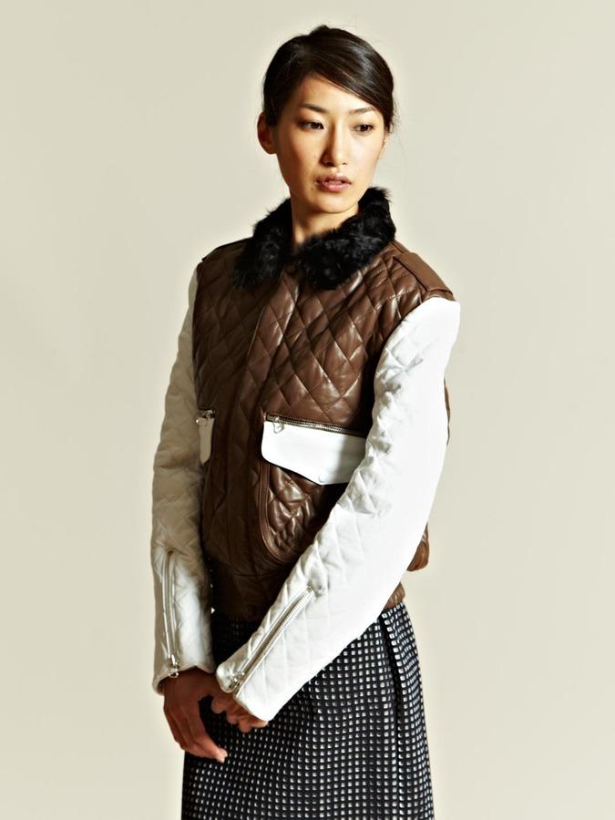 J.W.Anderson Womens Zip Sleeve Flight Jacket