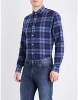 Ralph Lauren Purple Label Checked Regular-fit Brushed-cotton Shirt