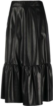 Philosophy di Lorenzo Serafini Faux Leather Midi Skirt