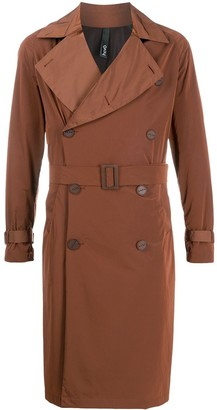 Hevo Double-Breasted Belted Trench Coat