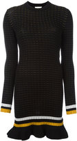 3.1 Phillip Lim knitted mini dress - women - Cotton/Spandex/Elastane - S