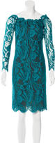 Emilio Pucci Lace Off-The-Shoulder Dress