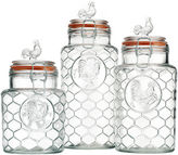 HOME ESSENTIALS Rooster 3-pc. Embossed Canister Set