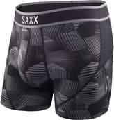 Saxx Men's Kinetic Performance Black Fracture Boxer Underwear Black 2XL
