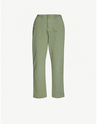 Polo Ralph Lauren Logo-embroidered slim-fit tapered stretch-cotton trousers