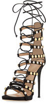 Giuseppe Zanotti Coline Strappy Lace-Up 110mm Sandal, Black