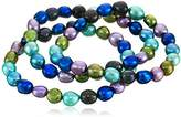 """Honora Peacock"""" Freshwater Cultured Pearl Stretch Bracelet Set"""
