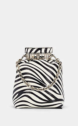 Altuzarra Women's Ice Lizard-Stamped Leather Bucket Bag - Wht.&blk.