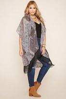 Forever 21 FOREVER 21+ Plus Size Fringe Kimono