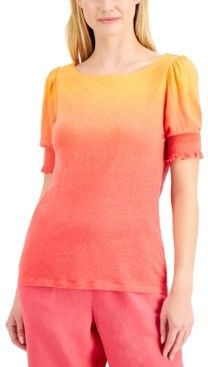 Charter Club Linen Ombre Top, Created for Macy's