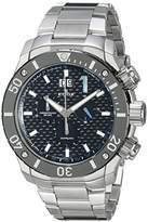 Edox Men's 10020 3M NBU Chronoffshore Analog Display Swiss Quartz Silver Watch