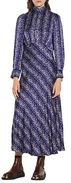 Sandro Angie Long Printed Dress