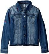 DL1961 Kids Manning Embroidered Jean Jacket Girl's Coat