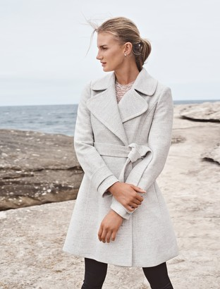Forever New Mia Fit and Flare Coat - Grey Marle - 4