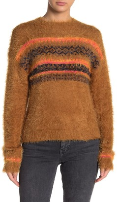 Abound Fluffy Fair Isle Pullover Sweater